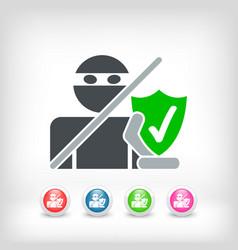 internet saferguard vector image