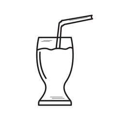 Isolated soda outline vector
