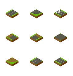 Isometric road set of turn plane incomplete and vector