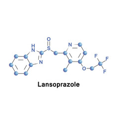 Lansoprazole medication ppi vector