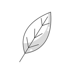 Line natural leaf symbol to conservation the vector