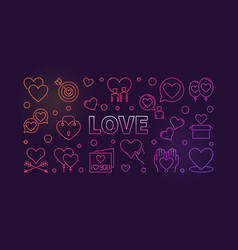 Love concept colored outline vector