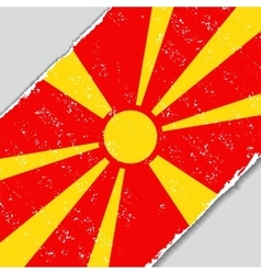 Macedonian grunge flag vector