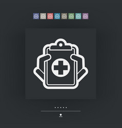 Medical records icon vector