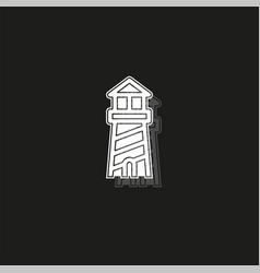 Navigation sea tower icon - lighthouse - ocean vector