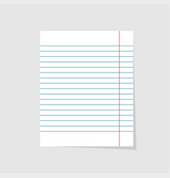 notebook paper realistic of blank sheet paper in vector image