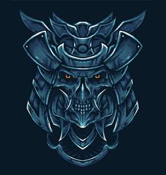 oni samurai head vector image