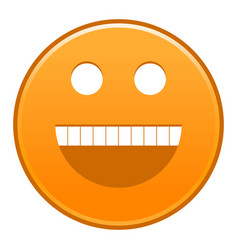 Orange smiling face cheerful smiley happy emoticon vector