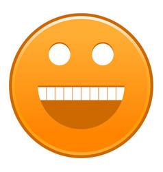 Orange smiling face cheerful smiley happy emoticon vector