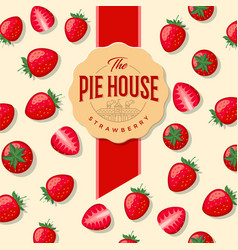 Packaging strawberry pie vector