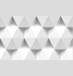 paper triangles and hexagons seamless pattern 3d vector image