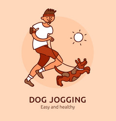 Pet jogging poster vector