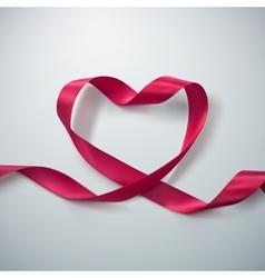 Pink Ribbon Heart vector