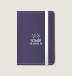 Premium journal cover design mockup vector