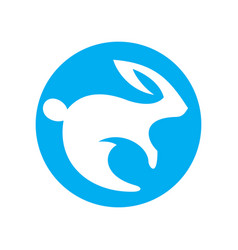 rabbit simple sign vector image