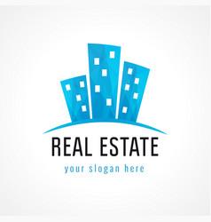real estate house logo vector image