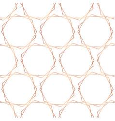 Rose gold foil hexagons seamless pattern vector