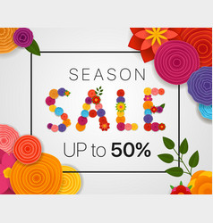 season sale concept discount banner with abstract vector image