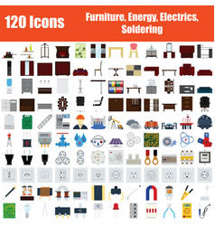 Set of 120 icons vector