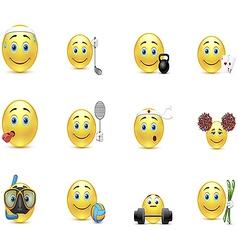 Set of smiles outside interest vector