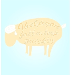Sheep for a quick sleep vector image