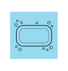 soap flat icon for website design personal care vector image