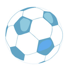 soccer ball icon flat on white vector image