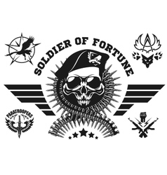 Special forces emblem with skull vector