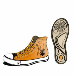 Spider shoe vector