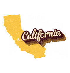 state california 70s retro logo graphic vector image