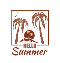 Summer logo design vector