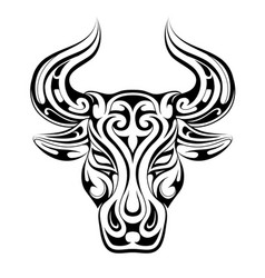 taurus tattoo as zodiac symbol vector image