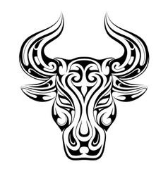 Taurus tattoo as zodiac symbol vector