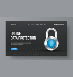 template header for online protection of vector image