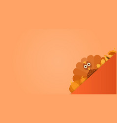 Thanksgiving postcard with turkey vector