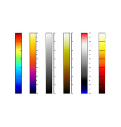 Thermographic camera color palettes vector