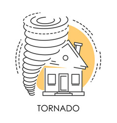Tornado isolated icon natural disaster and broken vector