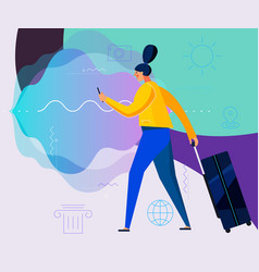 Traveling concept banners trendy character design vector
