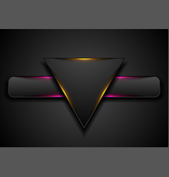 Triangle and rectangle with glowing light abstract vector