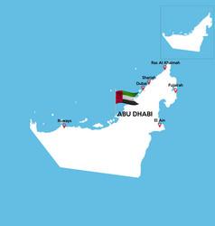United arab emirates set detailed country shape vector