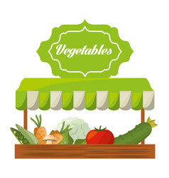 Vegetables product agriculture shop image vector