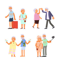 Voyage for grandparents family vector