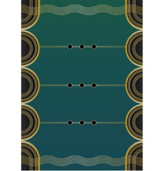 Waves Art Deco Background vector