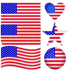 American labels set vector image vector image