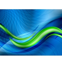Aqua waves abstract background vector image