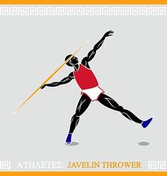 Athlete javelin thrower vector image vector image