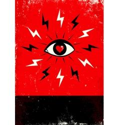 Eye love lighting vector image vector image