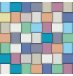 Multicolored paper lattice vector image