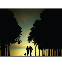 woodland walkers vector image vector image