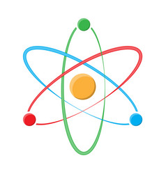 atom symbol on a white background vector image